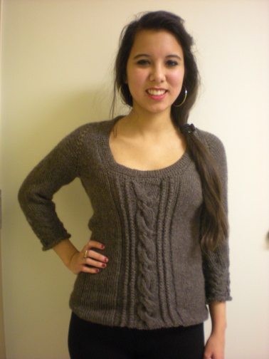 knit front