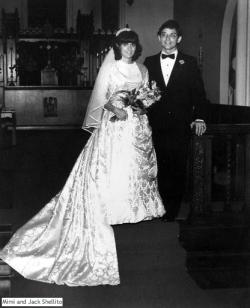 1982: Allison's mom wearing the dress, St. Louis Missori