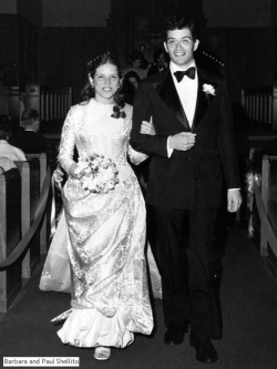 1975: Allison's aunt wearing the dress, Wichita Kansas