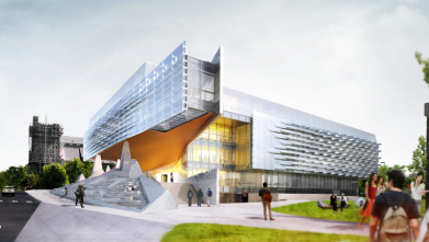 Southwest Architectural Rendering of Bill & Melinda Gates Hall