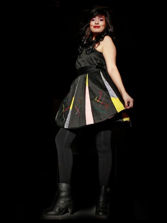 Modeled by Esmeralda Medina; Designed by Helen, 2011