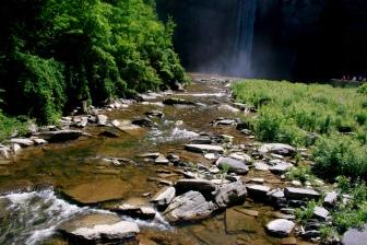 Waterbed of 215 foot waterfall; Photo Courtesy David Arellanes