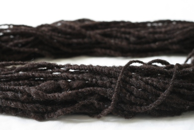 Created 2-ply yarn from Jacob sheep roving; Photo Courtesy David Arellanes