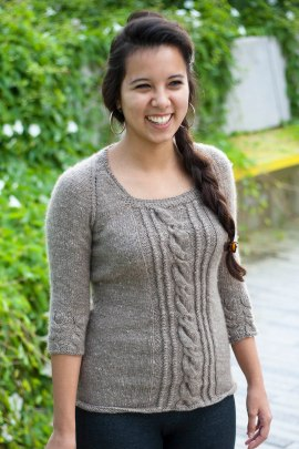 Cashmere sweater, Modeled by Nidia, August 2013