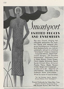Vogue Archive 76:6 - Advertisement Cohen Bros. January 15, 1930
