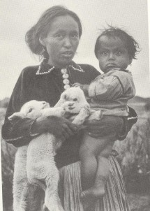 Navajo woman with baby and lambs, 1932, Laura Gilpin Amon Carter Museum of American Art, Fort Worth Texas