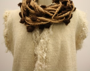 Wool vest and Alpaca Necklace by Marlie De Swart, 2013