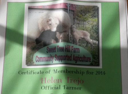 I became a 'Virtual Farmer' on Jan 19, 2014