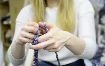 Process of knitting, Jasmine Gonzales, 2013