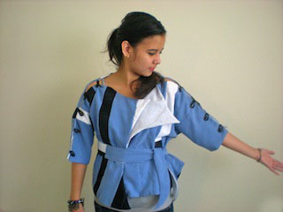 Adjustable jacket by Helen Trejo, April 2011