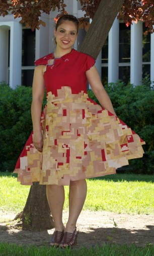 Zero Waste Senior Collection by Helen Trejo, Modeled by Cristal, May 2012