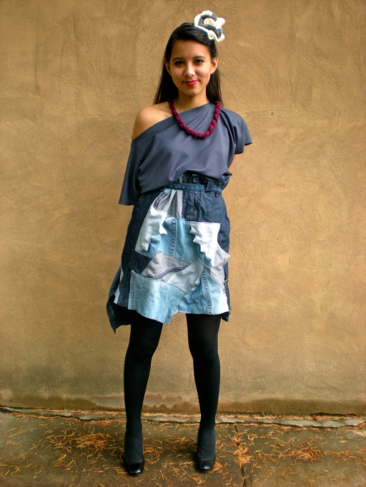 Reconfigure the Blue by Helen Trejo, Modeled by Nidia, May 2011