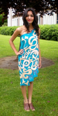 Zero Waste Senior Collection by Helen Trejo, Modeled by Keerith, May 2012