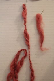 Cochineal on Angora Wool, 2015