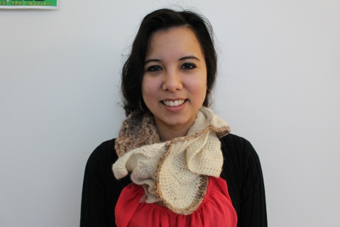 Crochet Spiral Scarf by Helen Trejo, Jan 2015