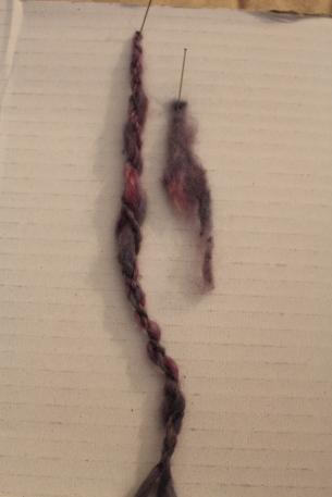 Indigo and Cochineal on Angora Wool, 2015