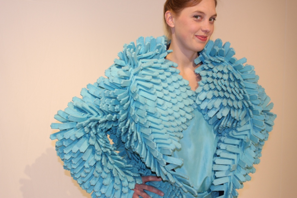 """Cilia"" by Kristen Morris, Modeled by _, Photo Credit, 2014"