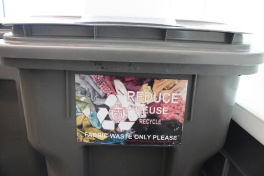 Cornell FSAD Textile Recycling Bin, 2015