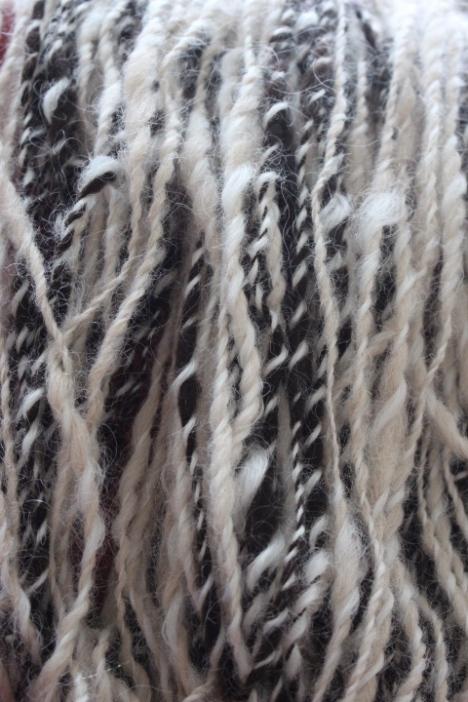 Hand-spun alpaca, longwool, merino, 2015