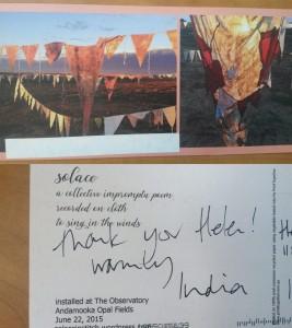 Solace postcard, 2015