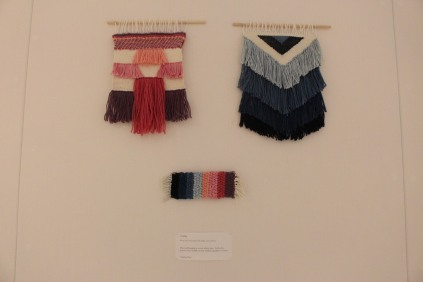 'Shading' Fangfang Weng - wool and cotton dyed with indigo and cochineal