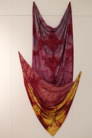 'California Dreaming' Kennedy Rauh - raw silk dyed with marigold, cochineal, and alkanet