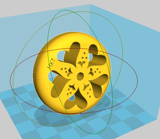 Heart Leaf Spindle 3D view, 2016