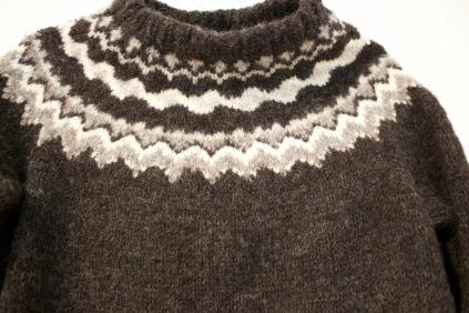 Hand-knit & Hand Spun New York Wool Sweater, Harpa Gansey