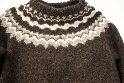 Hand-knit & Hand Spun New York Wool Sweater, Harpa Gansey