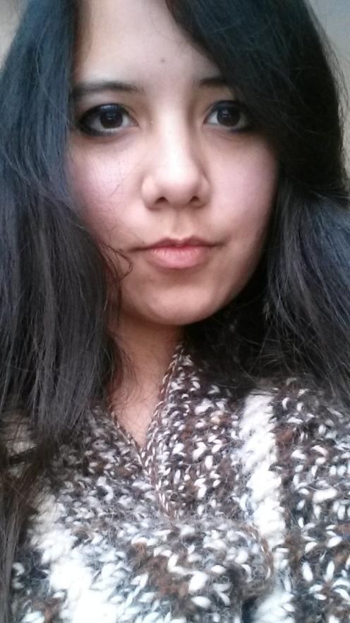 Me wearing NY Alpaca Cowl, 2016