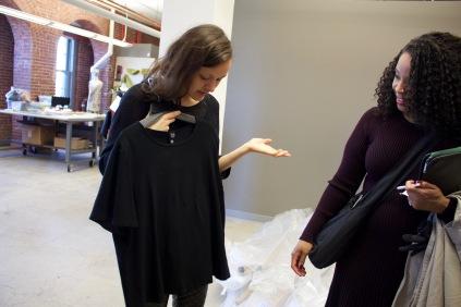 Dr. Tasha Lewis with Carmen, Green Eileen Designer, 2017