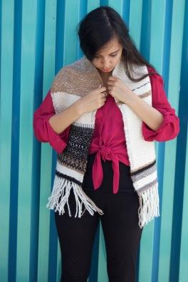 NY Woven Textile scarf by Amanda Denham, 2017